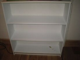 White Bookcase. Small amount of wear. for storage/books