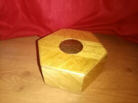 Handmade matchstick varnished shaped box