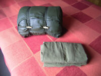 British Army 58 pattern sleeping bag and liner