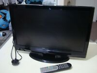 22inch T.V. with DVD player and remote control. Hardly used/unneeded.