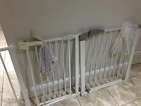 Two stair safety baby gates all the fittings included