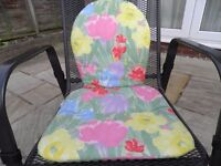 Pretty garden chair cushions in immaculate condition