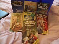 Set of 7 Nancy Drew mysteries by Carolyn Keene