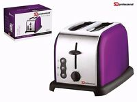 SQ Pro Legacy 900W Toaster with Reheat, Defrost and Cancel Functions Purple