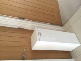 Floor Standing Bathroom Cabinet (White High Gloss)