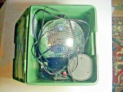 Chelsea Home Imports VINTAGE Working DISCO MIRROR BALL In BOX - $9.39