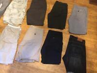 bundle men's shorts , 8 pairs , chinos , denim smart