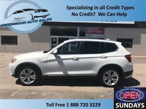 2014 BMW X3 NAVI, BIG ROOF, BACK UP CAM xDrive35i RARE V6