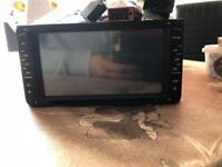 In car radio double din cd mo3 aux usb