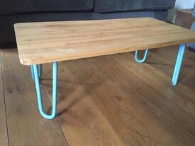 Beech Coffee Table - Hairpin Legs