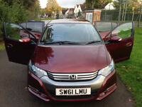 Honda Insight ES CVT Automatic 2011 (61) very low genuine mileage only one owner from new