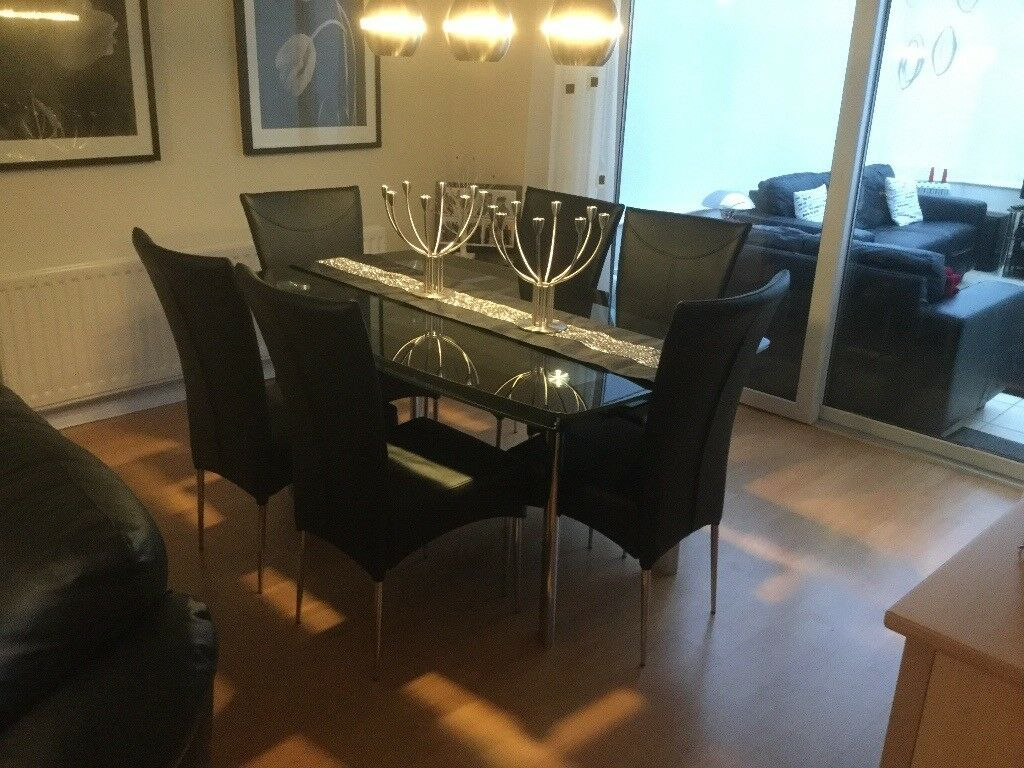 Harveys Boat Glasetal Dining Table And 6 Chairs
