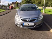Fantastic Condition, 2008 Vauxhall Corsa Breeze, 5 door, 1.2 manual. Very Reliable and Cheap to Run.
