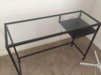 Ikea metal and glass desk