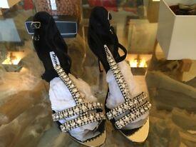 Dune 40 diamanté sandals
