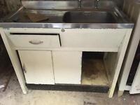 Vintage metal sink unit.