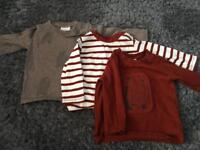 3 Next long sleeve jumpers - 3-6months