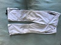 Ladies soft shell white ski pants