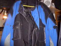 motorcycle jacket /helmet and gloves