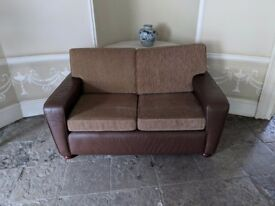 Part leather 2 seater sofa