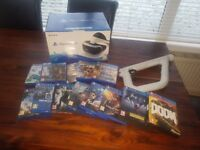 PS4 vr with gun and games