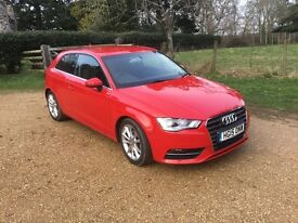 Audi A3 1.4 TFSI Sport 2015 Red 17Mths Manufacturer Warranty Left 1 Lady Owner From New Private Sale