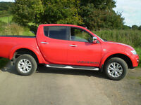 mitsubishi l200 euro 5 long bed 4x4 diesel pick up low miles