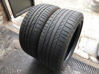 Pair Used Tyres Bridgestone Potenza RE050A 1 RSC (run flat) 225/45r17 91W Dot 3917 / 4117