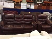 Faux leather recliners