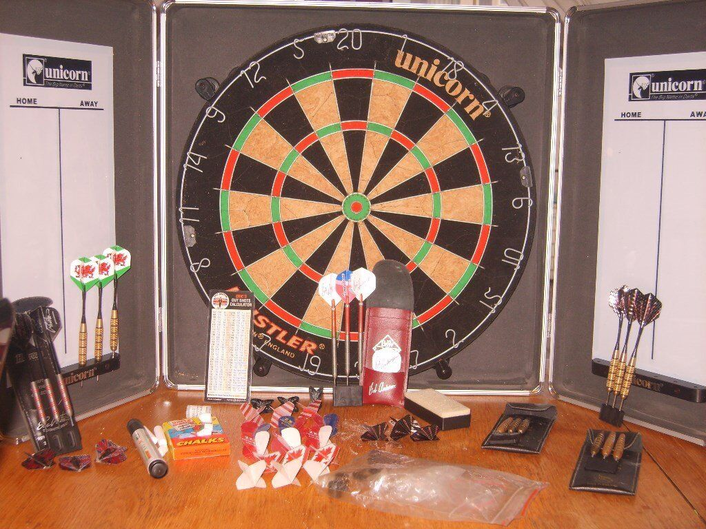 dart board and acceseries for sale