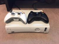 Xbox 360 + 2 controllers + 18 games