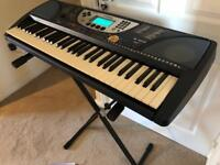 Yamaha PSR-270 Portable Keyboard with stand and books