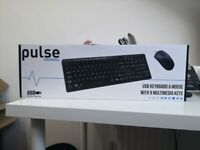 Pulse Wired Keyboard and Mouse Kit