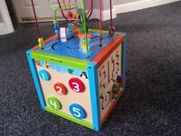 large wooden activity toy