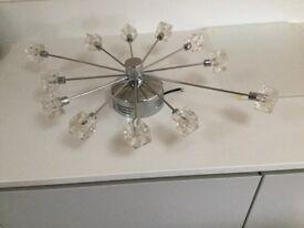 Contemporary chrome ceiling light