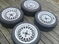 """BMW E30 15"""" BBS ALLOY WHEELS ( X2 TYRES ONLY AND NEED REPLACING )"""
