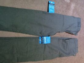2 x Boys School Trousers 100% Cotton Age 10 years