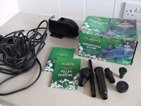 Blagdon mp900 minipond pump, new unused with 10 metre cable.