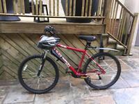 Men's muddy fox mountain bike /helmet/lights/saddle cover