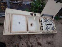 Caravan sink and hob
