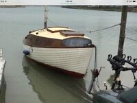 Sail boat with mooring