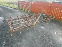Tractor three point linkage triple k cultivator ideal for horse arena