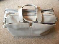 Samsonite Cream Leather 'Carry on Bag'