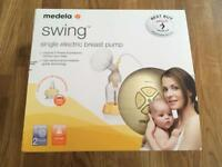 Medela swing single breast pump in original packaging