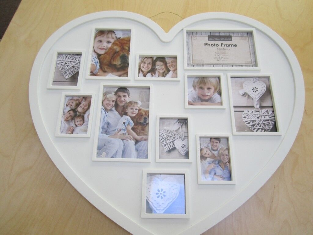 White heart shaped picture frame | in Derby, Derbyshire | Gumtree