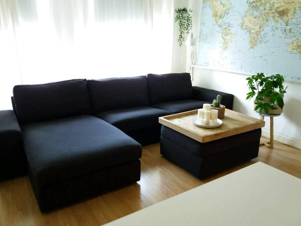 Sensational Ikea Kivik 4 Seat Sofa With Chaise Footstool With Storage Coffee Table Dark Grey In Luton Bedfordshire Gumtree Inzonedesignstudio Interior Chair Design Inzonedesignstudiocom