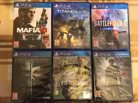FIFA 17 - MAFIA 3 -TITANFALL 2 - DISHONORED 2 -BRAND NEW & SEALED PLAYSTATION 4 GAMES PS4