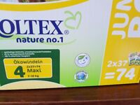 Moltex Size 4 diapers, box of 74