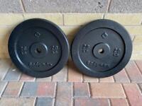 2 x 20kg weight plates Bodymax gym equipment