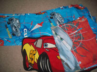 Children's Cars 2 Curtains, duvet cover, pillow case and bedroom rug